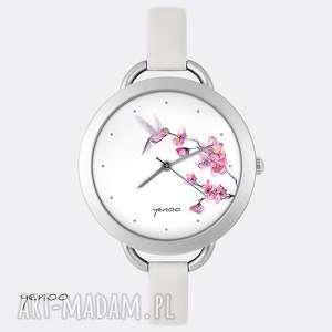 zegarek, bransoletka - koliber, bransoletka, skórzany, grafika