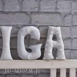 pokoik dziecka literki bawełniane na ścianę iga, litery, literki, dziewczynka