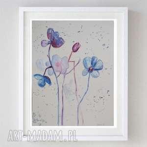 subtelne kwiaty -abstrakcja,akwarela formatu, kwiaty, abstrakcja, akwarela
