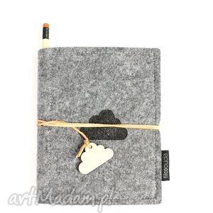 ręcznie zrobione notesy notes filcowy cloud