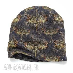 handmade czapki melat28/ designerska czapka jesienna, ważki