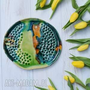 talerz ceramiczny tr4w4, handmade, kamionka, zastawa stołowa, talerz, patera