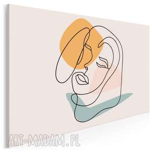 obraz na płótnie - minimalizm portret kobieta 120x80 cm 96301