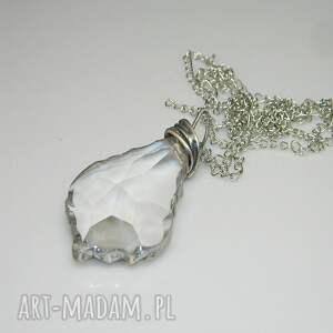 szklana łezka -N13, szklany, szklany-wisior, unikatowa-biżuteria, unikalny-wisior
