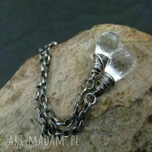 oryginalny prezent, onyksela kropelki deszczu, kryształ, krople