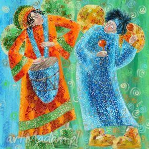 marina czajkowska muzycy 3, anioł, anioły, muzycy, 4mara, obraz, marinaczajkowska dom