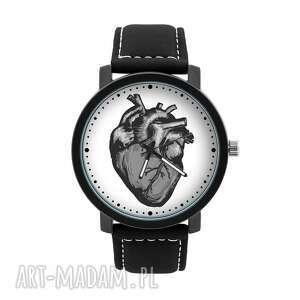 zegarek męski z grafiką anatomiczne serce, anatomia, wnętrze, miłość, homemade