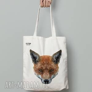 ręcznie robione torebki torba bawełniana lis
