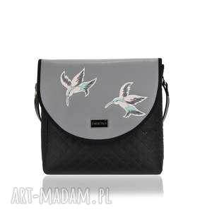 ręcznie robione na ramię torebka puro 1671 gray hummingbird
