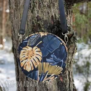 ręcznie robione prezenty na święta round bag - dżungla monstery