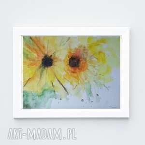 Kwiaty-akwarela formatu a4 paulina lebida kwiaty, papier, farby