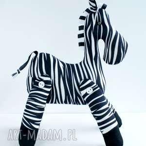 BRYKAJĄCA ZEBRA PRZYTULANKA, zebra, skandynawski, maskotka, konik, chłopiec