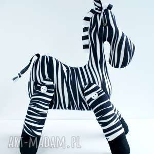 Brykająca zebra przytulanka zabawki kuferek malucha zebra