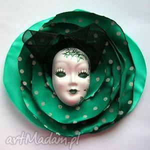 broszka z kolekcji masquerade - dotted queen - broszka, maska, wenecka, kropki, kwiat