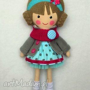 lalki malowana lala nina z wełnianym szalikiem, lalka, zabawka, przytulanka, prezent