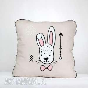 poduszka królik beż 46x46 - poduszka, dekoracyjna, pościel, przedszkolak