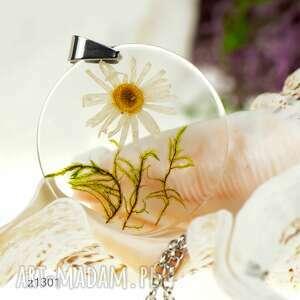 herbarium jewelry z1301 wisior z prawdziwym kwiatem 5cm, wisior-z-kwiatem