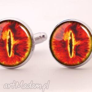 oko saurona - spinki do mankietów - oko, sauron, władca, pierścieni, spinki
