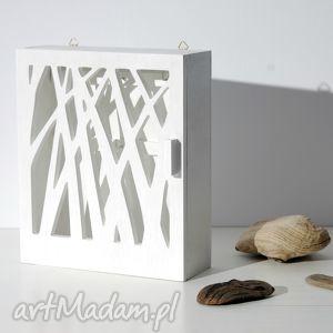 hand-made dekoracje skrzynka na klucze natura; biała