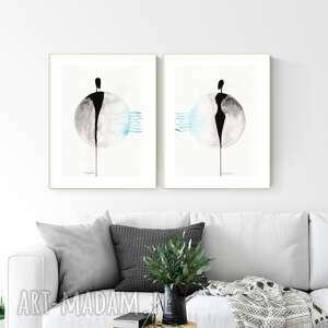plakaty grafika 30x40 cm wykonana ręcznie, abstrakcja, obraz do salonu, styl