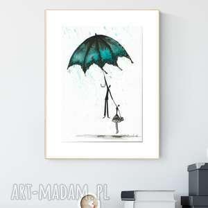 grafika a4 malowana ręcznie, minimalizm, ilustracja - obrazy ręcznie malow