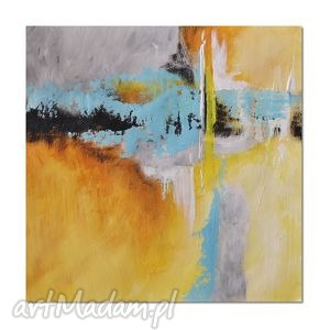 abstrakcja ybtg 2, nowoczesny obraz ręcznie malowany - obraz, nowoczesny, ręczie