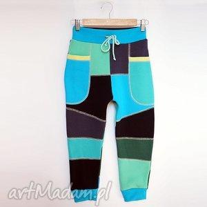 ONLY ONE No 006 - spodnie dziecięce 128 cm, spodnie, dres, eco, bawełna, unikat