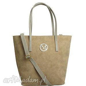 torebka manzana torba gwiazd klasyczna - beżowy zamsz - torebka, manzana, torba