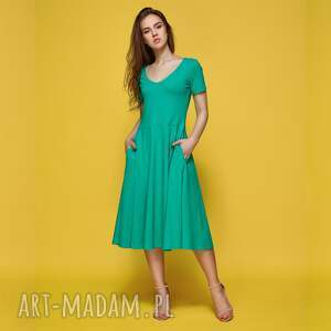 SYMETRIA sukienka z dzianiny bawełnianej, sukienka, dzianina, bawełna