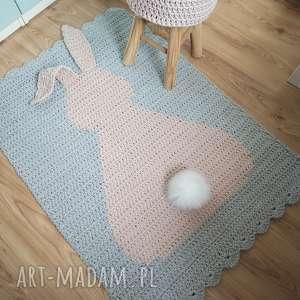 pokoik dziecka dywan 3d szydełkowy królik, dywan, narzuta, zając, królik