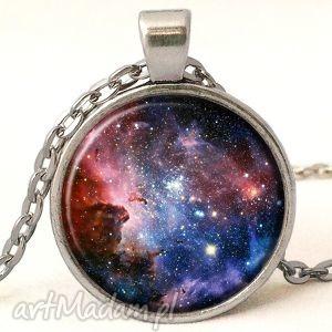 carina nebula - medalion z łańcuszkiem - kosmiczna naszyjnik