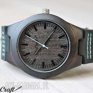 Damski drewniany zegarek EBONY BLUE HANDS woman, zegarek, damski,