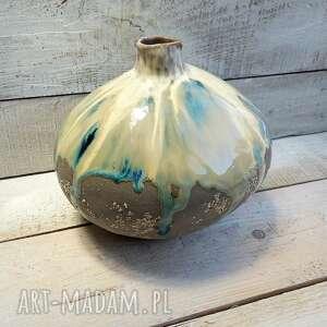 hand made wazony wazon okrągły w szarości