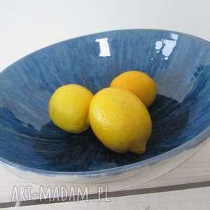 misa z granatowym środkiem, modernistyczna, minimalistyczna, miska, ceramiczna