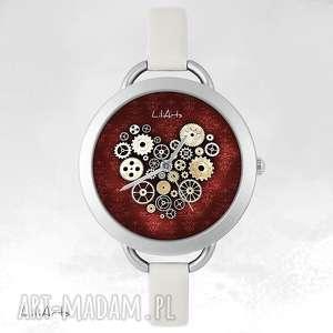 zegarki zegarek, bransoletka - serce steampunk, bransoletka, skórzana