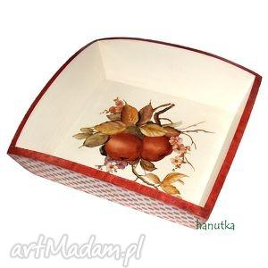 jesienny sad - patera pudełko - jabłuszko, rustykalne, jadalnia