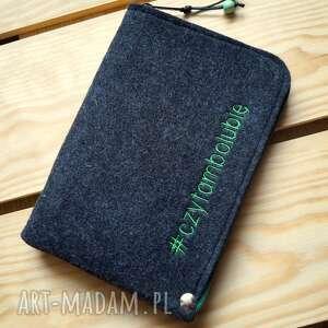 handmade etui filcowe na czytnik ebook