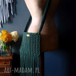 na ramię torebka ze sznurka, torebka, sznurek, naramię, szydełkowarorebka
