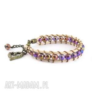 0823/mela bransoletka wrap bracelet pojedyncza, bransoletka, pleciona