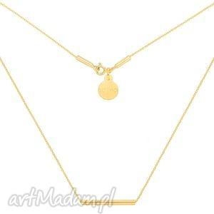 złoty naszyjnik z rureczką sotho - łańcuszek, zawieszka