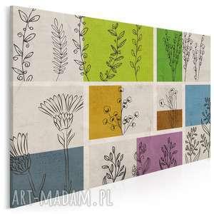 obraz na płótnie - kwiaty łąka 120x80 cm 40801, zielnik, rośliny