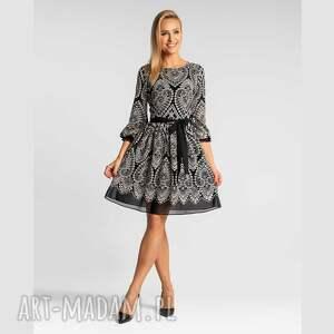 sukienki sukienka carrie mini donatella czarno-biała, mini