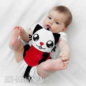 Termofor z pestkami wiśni na kolkę niemowlęcą zabawki poofy cat