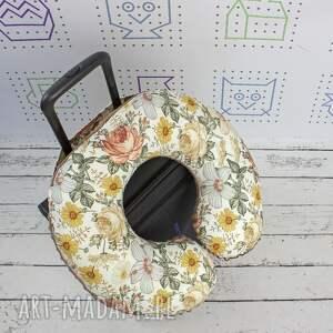 poduszka podróżna kwiaty vintage garden, poduszka, podróżna