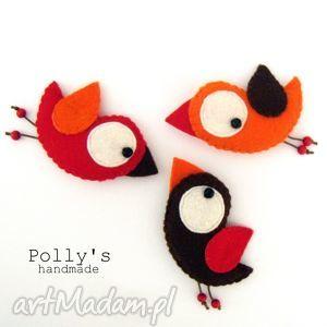 Three little birds - przypinki broszki polly27 ptaszki, broszka