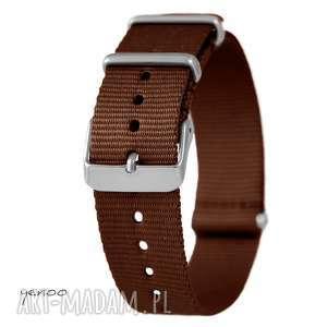 Prezent Pasek do zegarka - nato, nylonowy, brązowy, zegarek, pasek, nylonowy