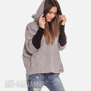 bien fashion luźna ciepła bluza kangurka z kapturem, oversize