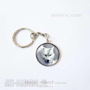 liliarts breloczek - biały wilk, breloczek, brelok, husky, unikatowy