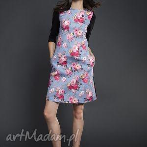 wyjątkowy prezent, sukienki trapezowa sukienka w kwiaty, sukienka, trapezowa, kwiaty
