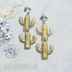 unikatowe klipsy lub kolczyki - kaktusy glam, kaktus, kaktusy